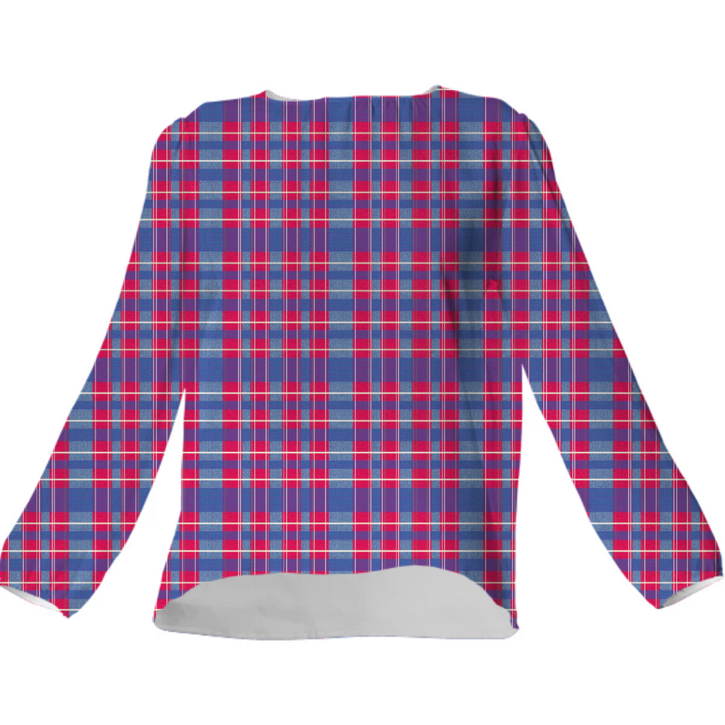 Purple Pop Plaid Blouse