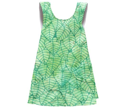 Green foliage SSWTR Kids Apron Dress