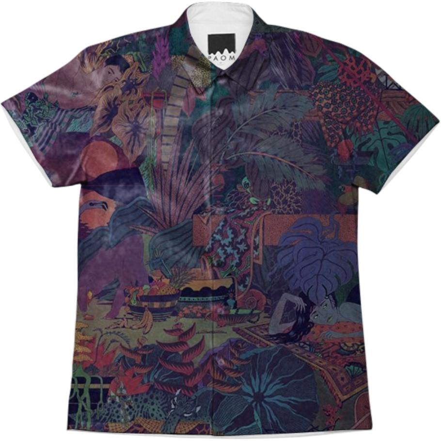 Glass Animals ZABA print button down
