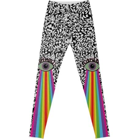 PAOM, Print All Over Me, digital print, design, fashion, style, collaboration, paomcollabs, Leggings, Leggings, Leggings, Rainbow, Eye, autumn winter spring summer, unisex, Spandex, Bottoms