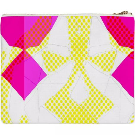 Dots and Triangles Clutch