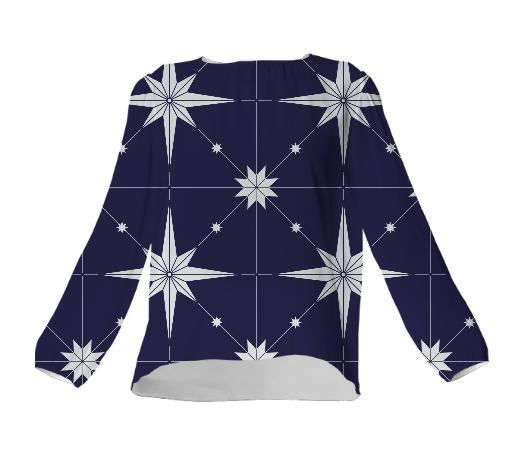 Starry Night VP Silk Top