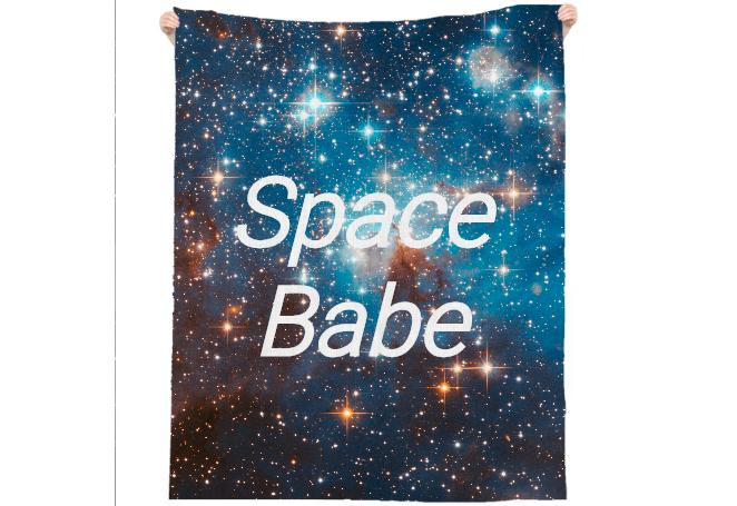 Space Babe Galaxy Beach Towel