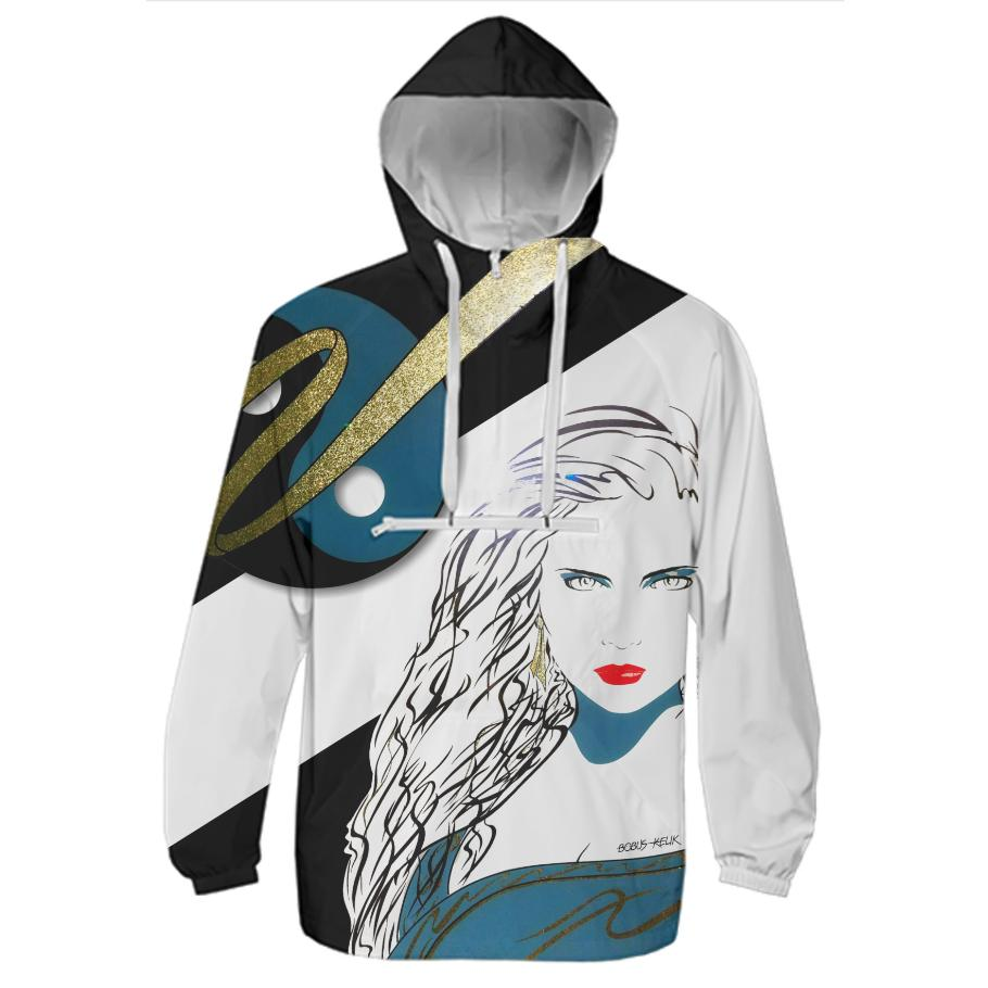 Lady Waiting Windbreaker