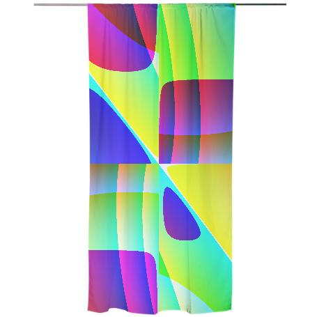 Abstract Geometry Curtain