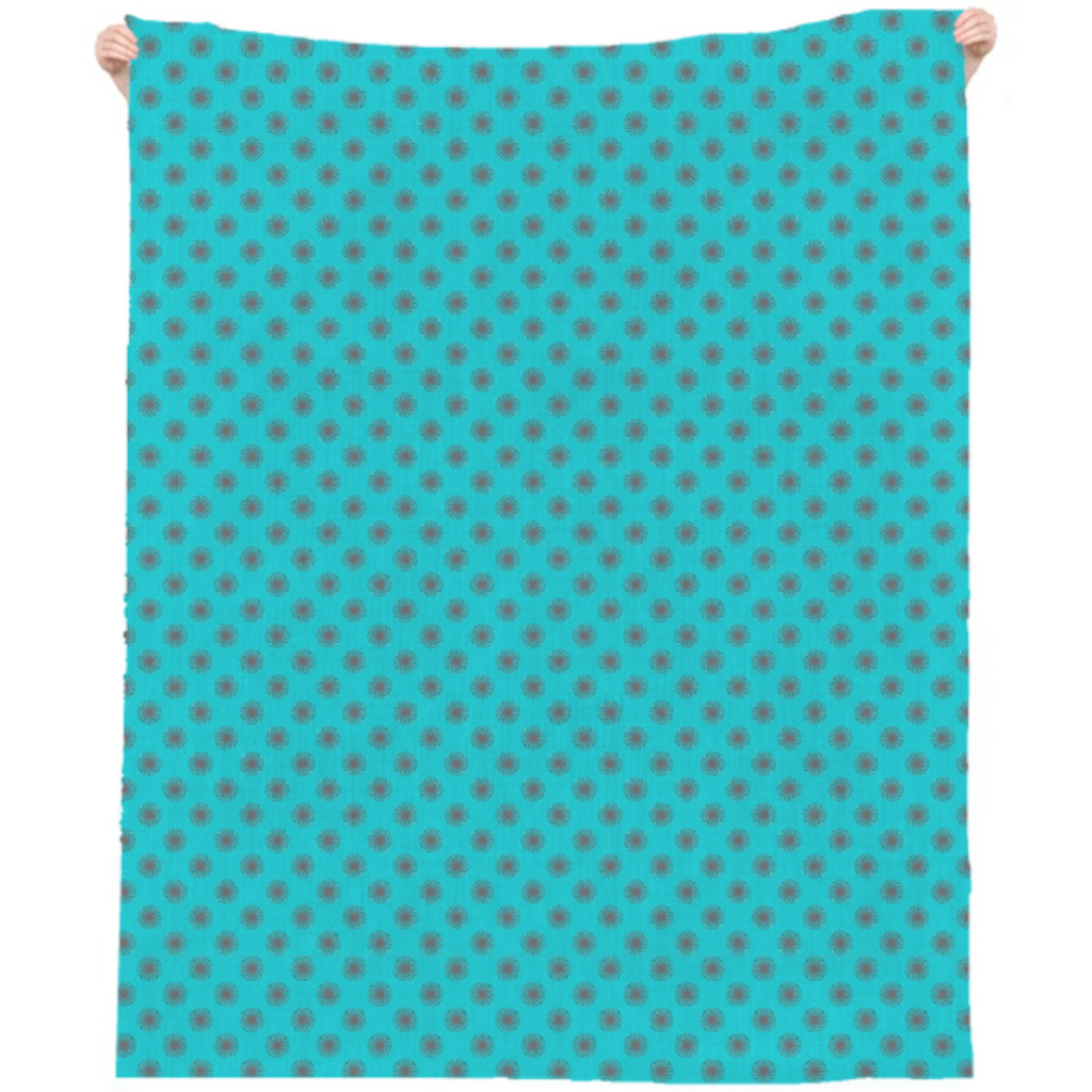Abstract Dots Explosion Linen Beach Throw