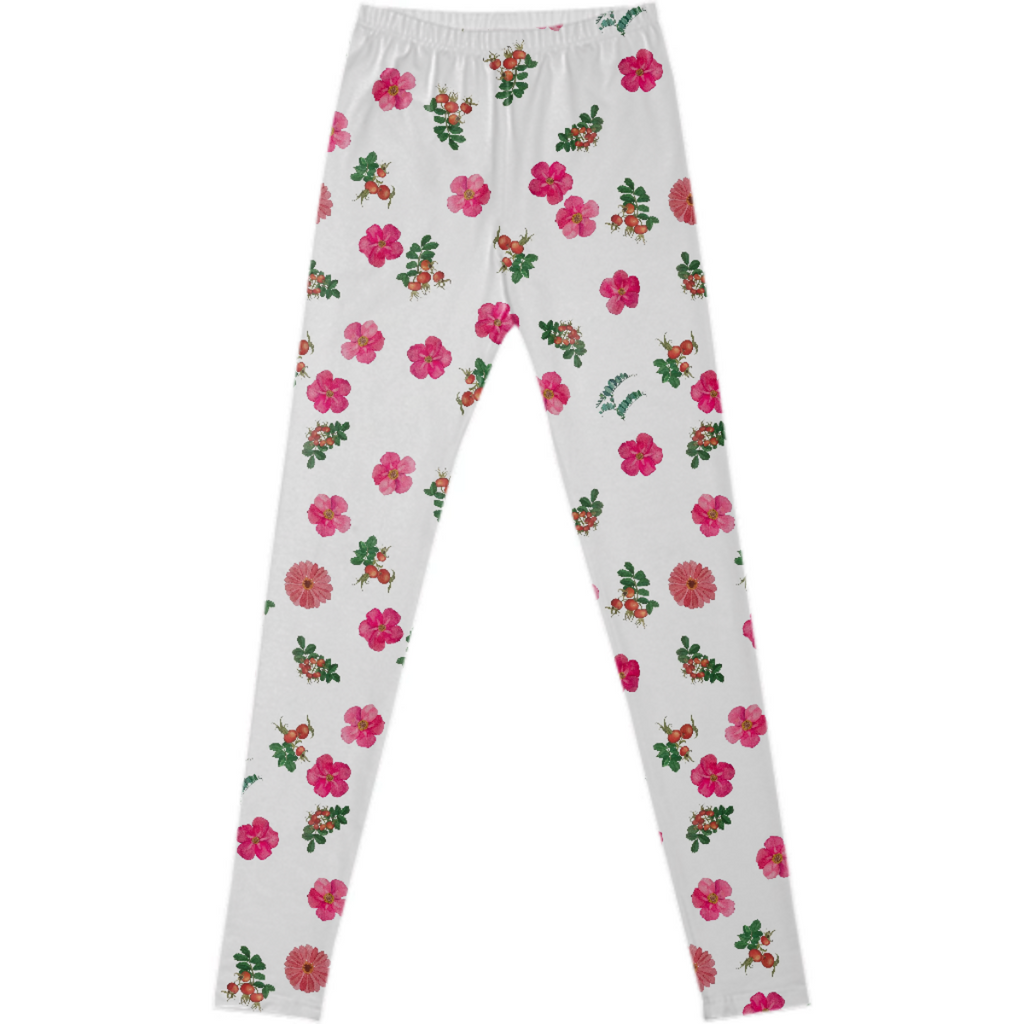 rose confetti leggings
