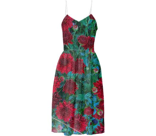 Red Mums Sundress
