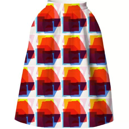 Collage Neoprene Skirt