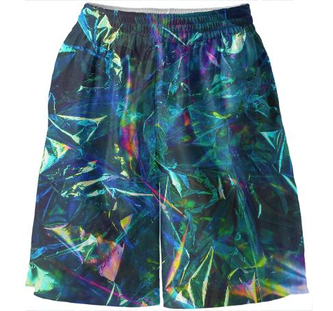 basketball shorts blue foil