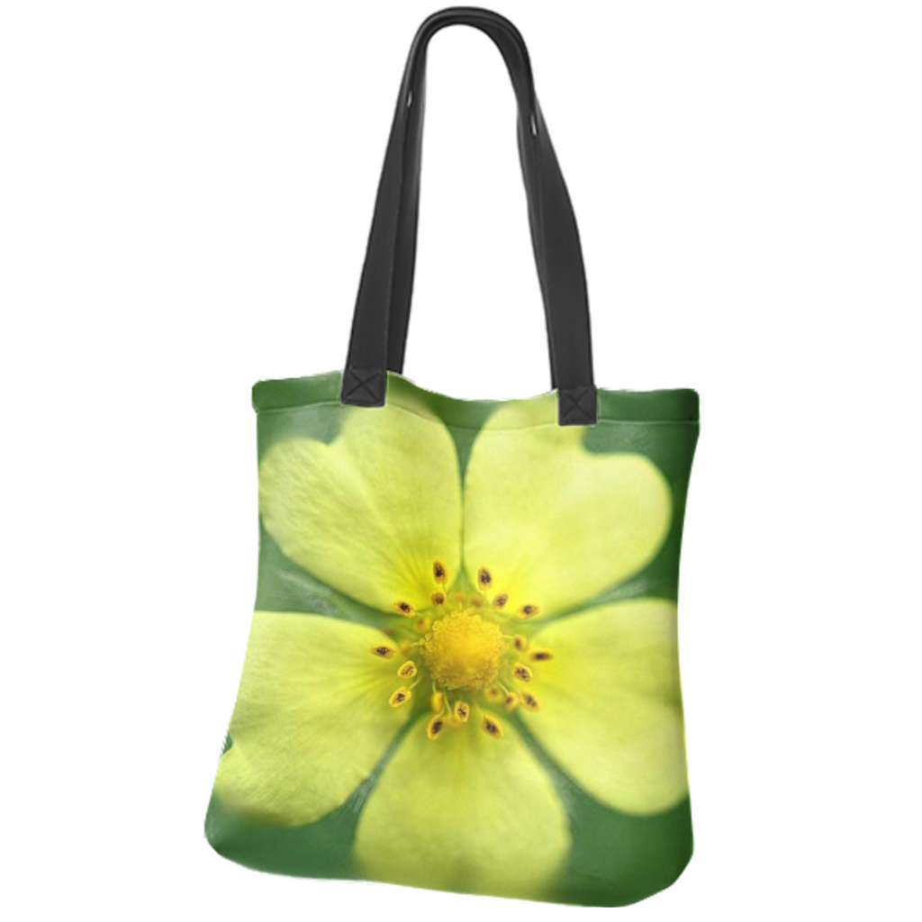 Yellow Wildflower Detail Neoprene Tote