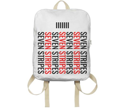 Seven Stripes Backpack White Multi Colored