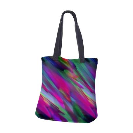 NEOPRENE TOTE BAG Colorful digital art splashing G400