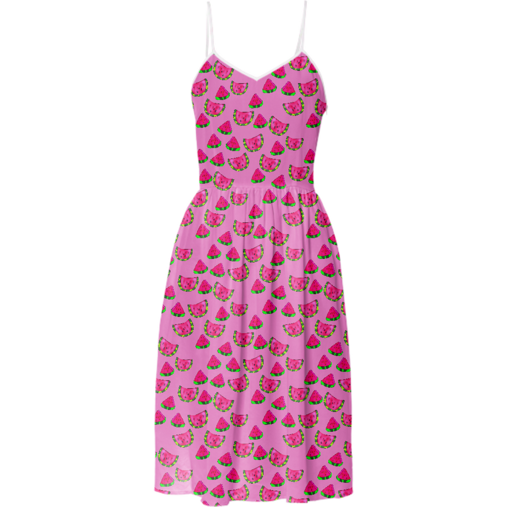 Watermelon Pattern Summer Dress