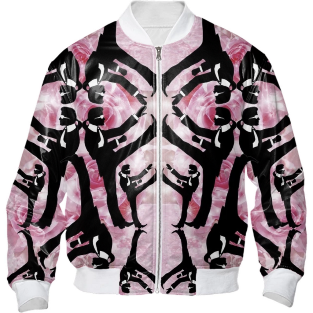 Karl Lagerfeld is really Chuck Norris-Rose Bomber Jacket