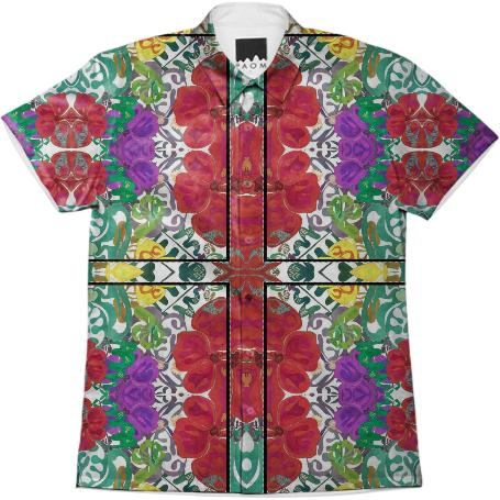 Hibiscus Fields Aloha Shirt