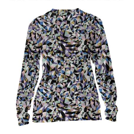 PAOM, Print All Over Me, digital print, design, fashion, style, collaboration, zebrakatz, Cuffed Long Sleeve, Cuffed-Long-Sleeve, CuffedLongSleeve, Fractals, autumn winter, unisex, Poly, Tops