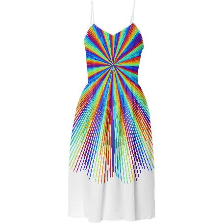 Rainbow Rays Summer Dress