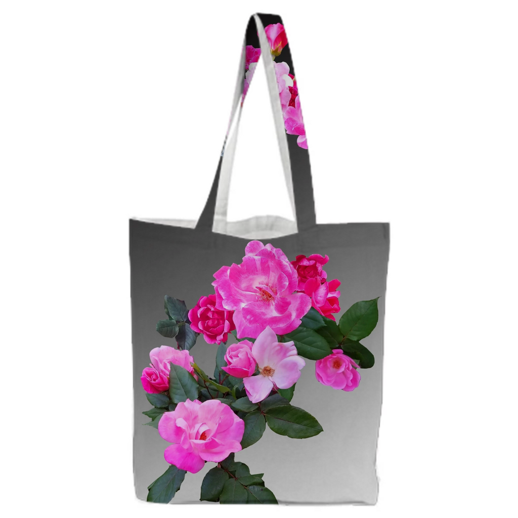 Roses for Days ombre Canvas Shopping Bag