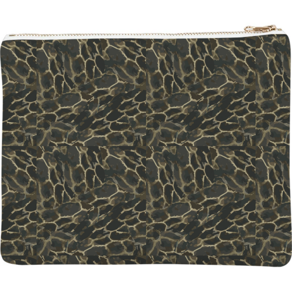 Turtle - animal print clutch