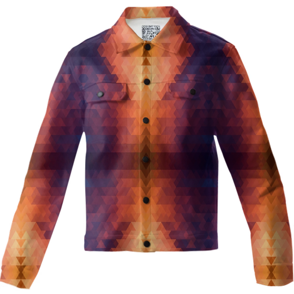 Eggplant and Pumpkin Aztec Twill Jacket