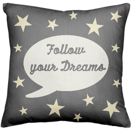 PAOM, Print All Over Me, digital print, design, fashion, style, collaboration, yazbukey, Pillow, Pillow, Pillow, Follow, Your, Dreams, autumn winter spring summer, unisex, Poly, Home