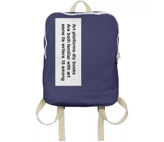Art platforms diy books Backpack