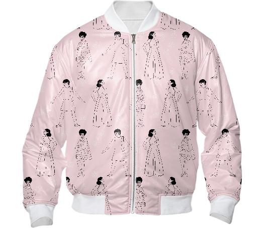 PAOM, Print All Over Me, digital print, design, fashion, style, collaboration, luisa-castellanos, luisa castellanos, Bomber Jacket, Bomber-Jacket, BomberJacket, 60s, ladies, autumn winter, unisex, Nylon, Outerwear