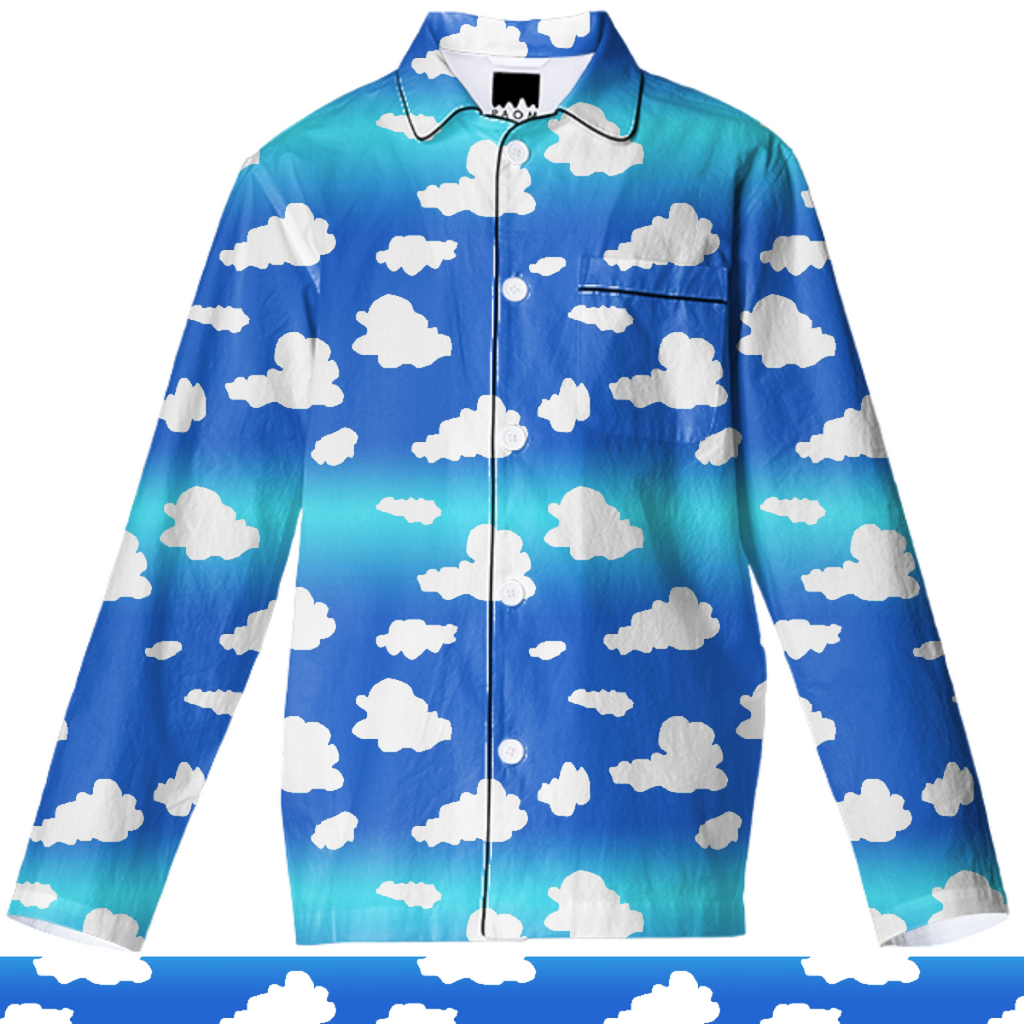 Clouds Pajama Top