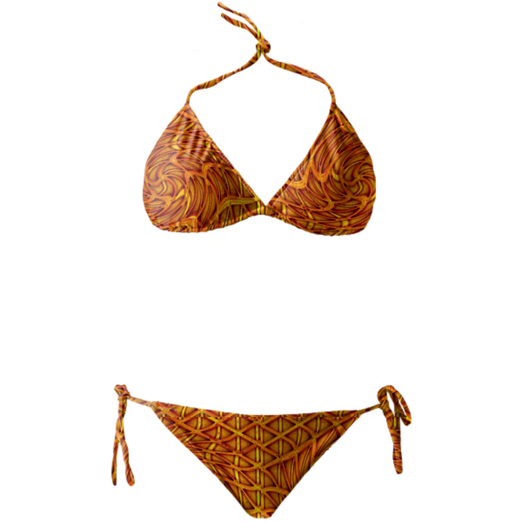 BIKINI ORANGE SWIRLS