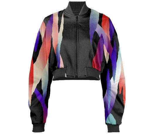 PAOM, Print All Over Me, digital print, design, fashion, style, collaboration, gambette, Gabriel Held Cropped Bomber Jacket, Gabriel-Held-Cropped-Bomber-Jacket, GabrielHeldCroppedBomberJacket, Cosmos, Neoprene, autumn winter, unisex, Neoprene, Outerwear