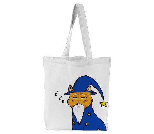 Sleepy Kitty Wizard Tote