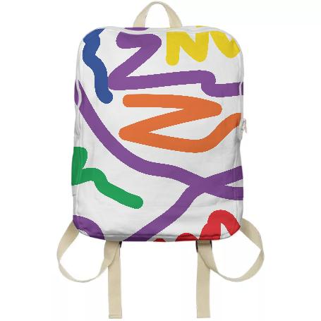 PAOM, Print All Over Me, digital print, design, fashion, style, collaboration, brittneyscott, Backpack, Backpack, Backpack, scribble, autumn winter spring summer, unisex, Poly, Bags