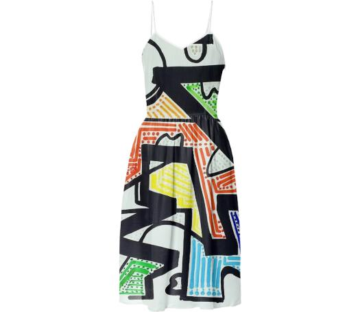 Zig Stipple Summer Dress