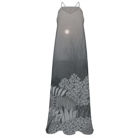Gloom and Bloom Chiffon Maxi Dress