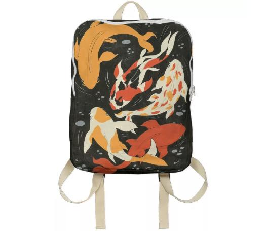 Koi Backpack by Amanda Laurel Atkins