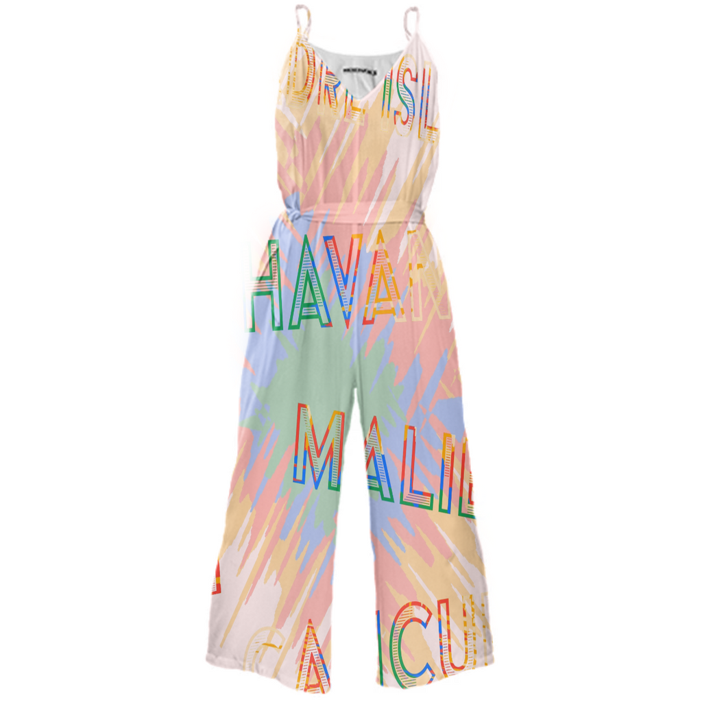 Tropical Tie Waited Jumpsuit