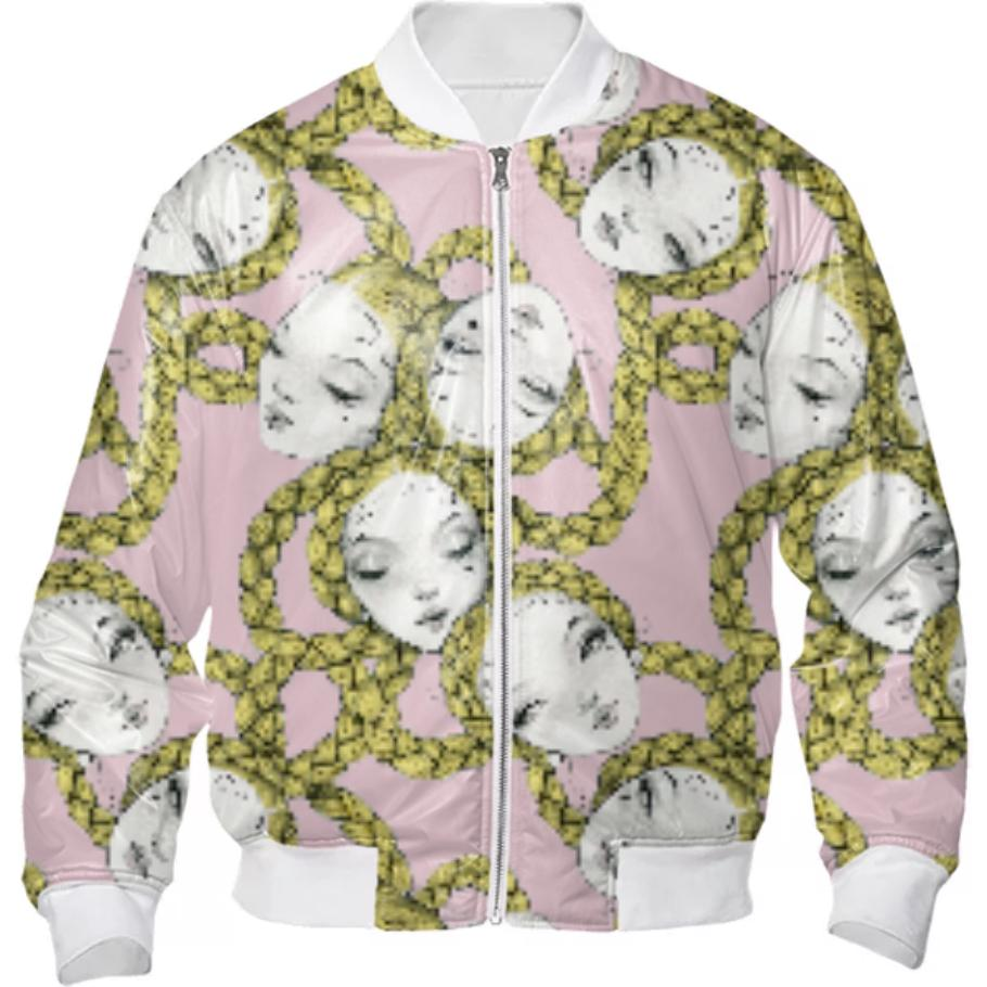 PAOM, Print All Over Me, digital print, design, fashion, style, collaboration, pidgin-doll, pidgin doll, Bomber Jacket, Bomber-Jacket, BomberJacket, Pidgin, Ballet, Pink, autumn winter, unisex, Nylon, Outerwear