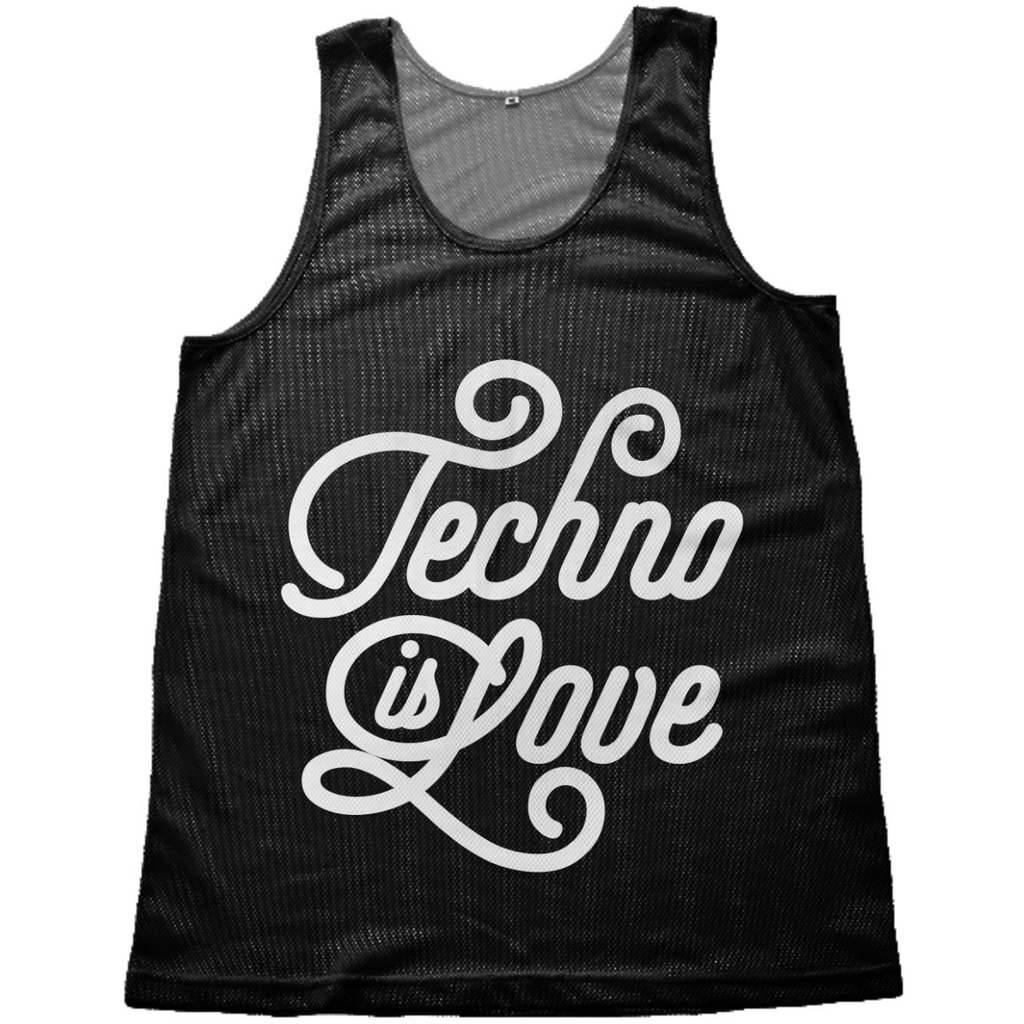 Techno is Love mesh-tank