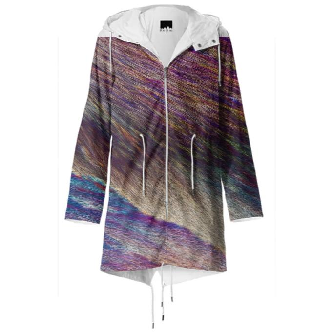 Feathers and Fur Crystal Raincoat