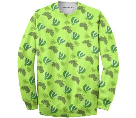 Graphic Leaf Pattern Jumper