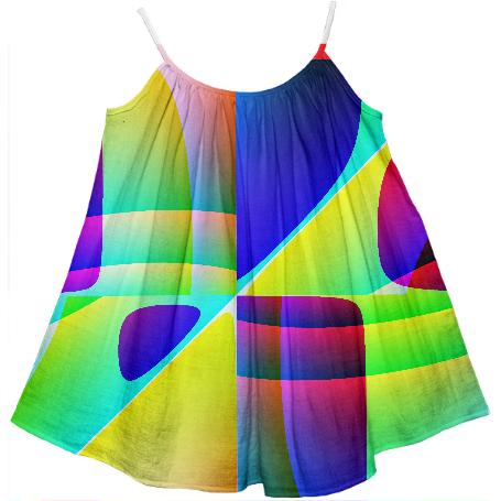 Abstract Geometry Children s Dress