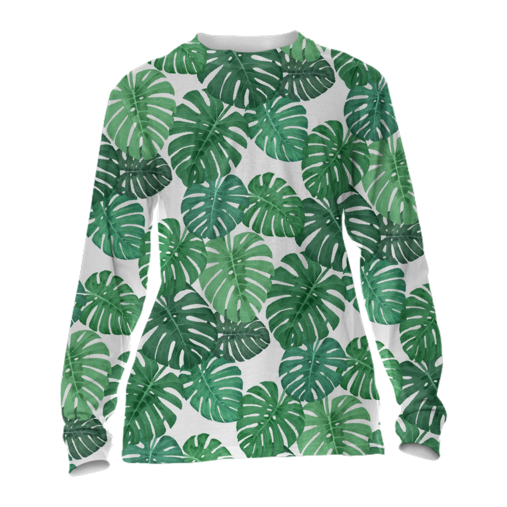 Monstera Jungle Cuffed Long Sleeve by Frank-Joseph