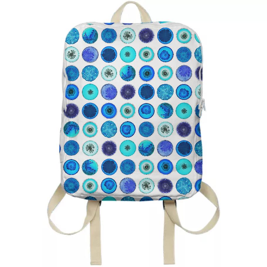 PAOM, Print All Over Me, digital print, design, fashion, style, collaboration, daninolab, Backpack, Backpack, Backpack, Petri, Dish, autumn winter spring summer, unisex, Poly, Bags