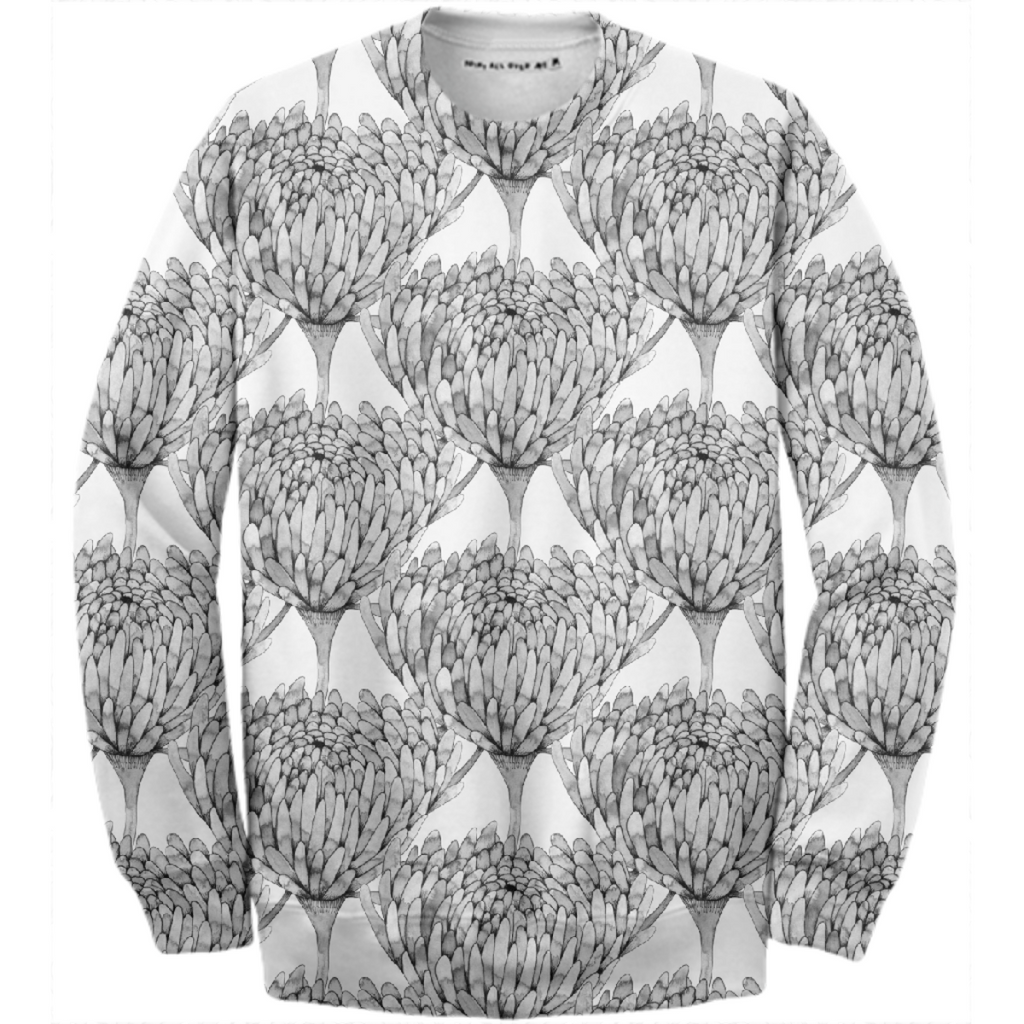 Chrysanthemum Crowd Cotton Sweatshirt