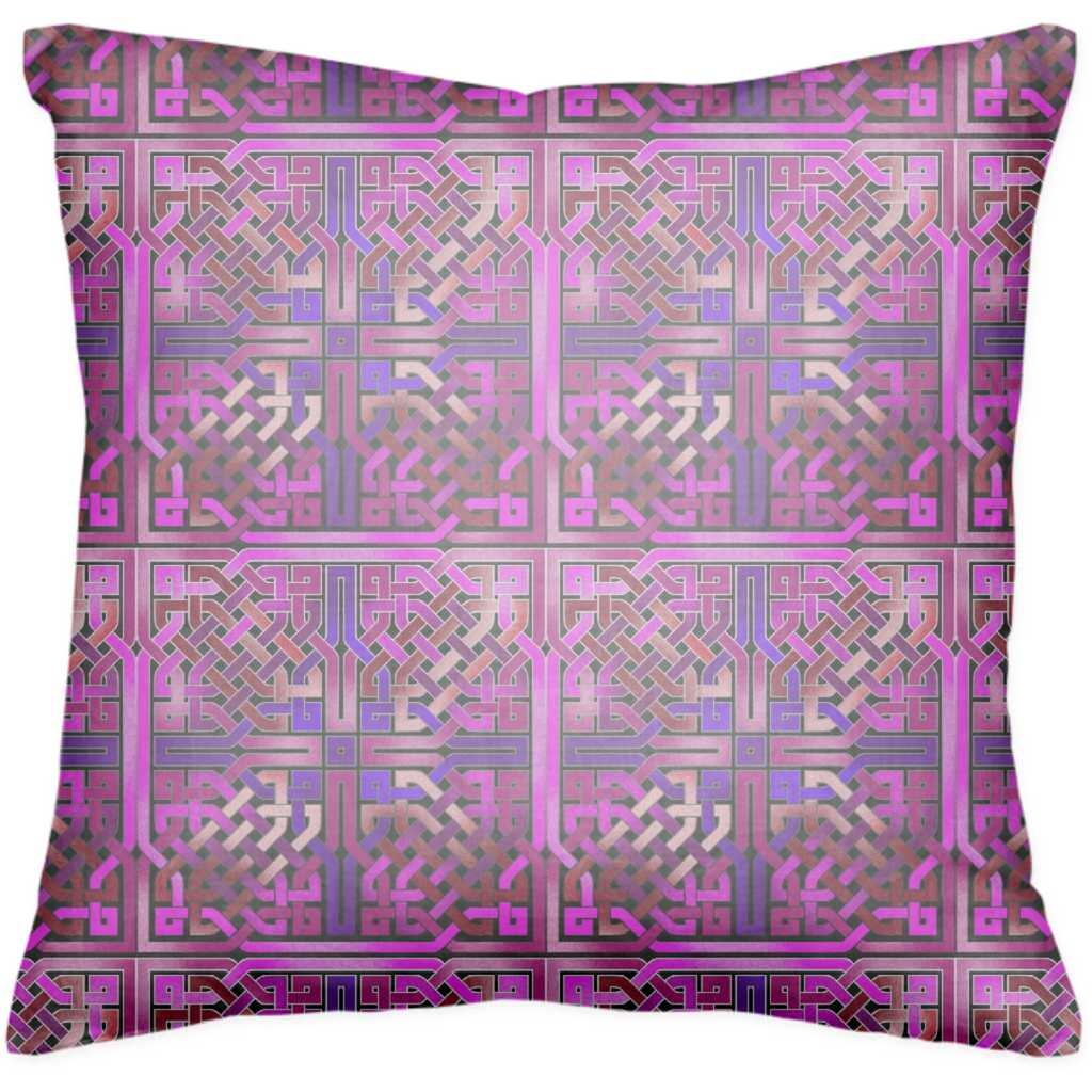 Pink Celtic Knot Pillow