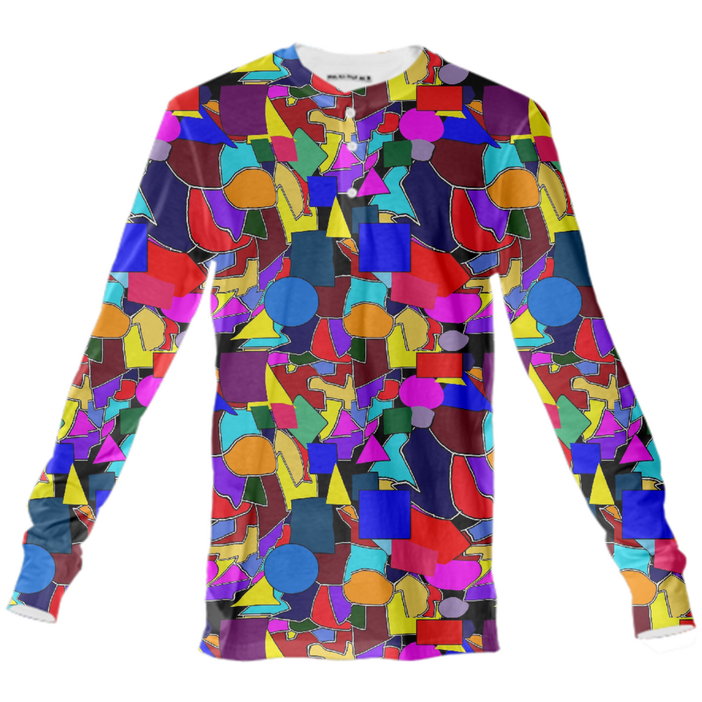 Colorful Shapes Collage Henley