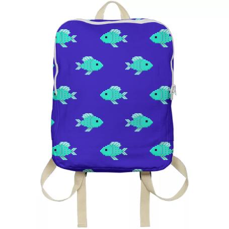 Fin tastic backpack in blue