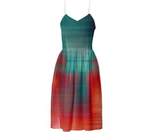 abstract v neckline dress
