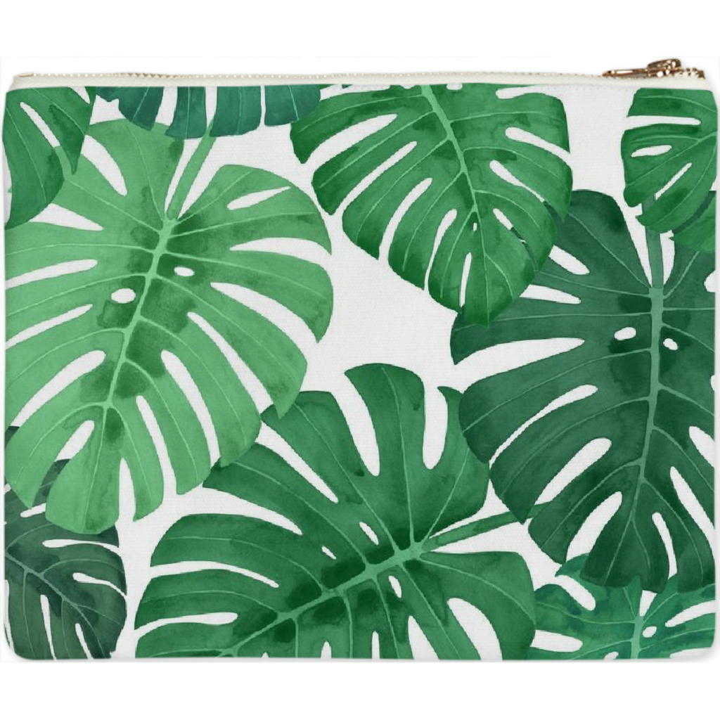Monstera Jungle Clutch by Frank-Joseph